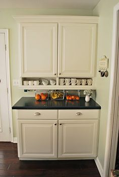 love the open mini cabinets on bottom-for new cabinets in kitchen?