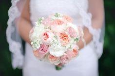 Pink bridal bouquet - Dan and Melissa