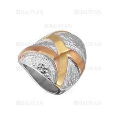 anillo forma especial en acero plateado inoxidable -SSRGG161981