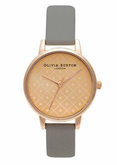 Olivia Burton Modern Vintage Watch - Rose Gold & Grey