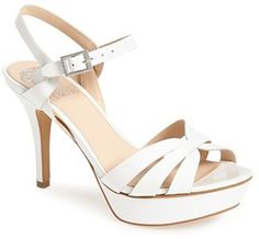 VINCE CAMUTO PEPPA STRAPPY HIGH HEEL SANDAL IVORY * Trust me, this is great! Click the image. : Strappy sandals