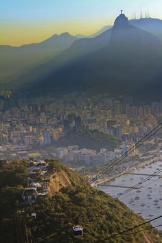 Christ the redeemer statue in Rio and Påo de Açucar. I want to go back someday....