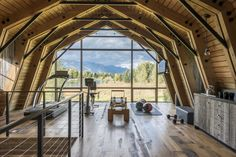 Old Hay Barn converted into a modern guest house filled with light – house styling – Die Architektur Modern Barn, Modern Farmhouse, Modern Cabins, Rustic Modern, Modern Homes, Hay Barn, Gambrel Roof, Gambrel Barn, Barns