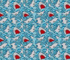 Husband's favorite fabric!  Rrshark_attack_shop_preview