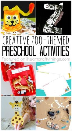 A child's love for the zoo and animals makes a zoo theme a great preschool unit. Here are 12 creative zoo themed preschool activities your kids will love. Animal crafts, alphabet activities, creative thinking and imaginative play. So many great kid activities to choose from. Creative Activities For Kids, Animal Activities, Toddler Activities, Preschool Activities, Alphabet Activities, Animal Crafts For Kids, Fun Crafts For Kids, Diy For Kids, Zoo Crafts