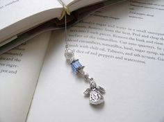 Beaded Bookmark Angel Watching Over You Beaded por EleganceFarm
