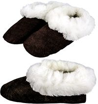 Fair Trade. Peruvian Sheepskin Comfort Slippers at The Hunger Site. Very warm and comfy!