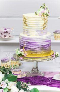 Painted wedding cake.