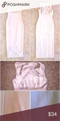 Elegant Tahari Dress Beautiful cream color. Pet & smoke free environment. Two small stains on the bottom back of the dress but barely noticeable. Any questions? Please ask! 🙂 Tahari Dresses Midi