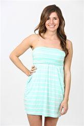 Stripes & Sun Dress - Mint