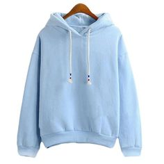 Womens Hoodie Sweatshirts - Thick Long Sleeve - Light Blue – I Sell Goods