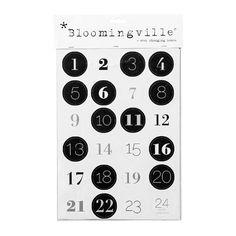Edle Zahlensticker für den Adventskalender.