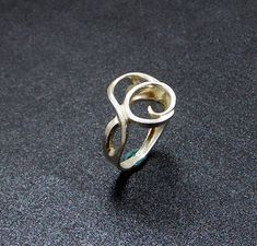 Sterling Silver Lost Wax Casting Ring by SoaringeagleGems on Etsy