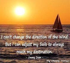 Adjust sails quote via My Cheery Corner page on Facebook