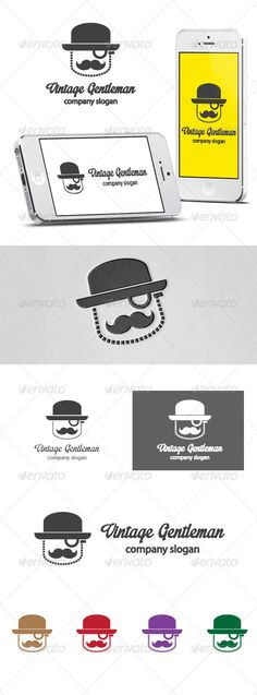 Vintage Gentleman	 Logo Design Template Vector #logotype Download it here: http://graphicriver.net/item/vintage-gentleman-logo/6108210?s_rank=83?ref=nexion