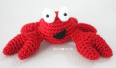Crab free crochet pattern by Repeat Crafter Me