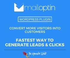 #MailOptin - An ultimate #LeadGeneration, customer acquisition and #EmailMarketing or #Automation #WordPress #Plugin.  Grow and engage your mailing list and visitors! :)   PS - 15% Off #Exclusive #Discount code for #TheMaverickSpirit users available!!