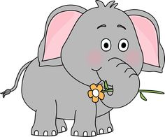 Clip Art Cute Elephant Clipart free baby elephant clip art google search kids pinterest with a flower image holding with