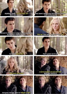 Caroline and Stefan. The Vampire Diaries Season 6 Episode 13. Steroline yes!