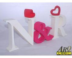 Inicjały Na stół Pary Młodej - Dekoracje Ślubne - Weselne (NA ZAMÓWIENIE) NR 23 - ARQ - DECOR | Pracowania Dekoracji ARQ DECOR