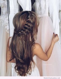 Incredible messy side braid, long locks