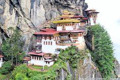 Gorgeous Paro Monastery Bhutan ON a Cloudy Day