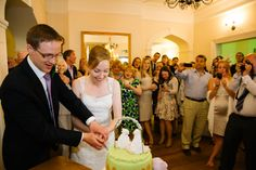 Couple cut the cake at a wedding Wedding Photos, Couples, Cake, Falling Down, Marriage Pictures, Food Cakes, Cakes, Bridal Photography, Wedding Photography