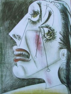 Wehklagende Frau PABLO PICASSO Kunstdruck Reproduktion Surrealismus
