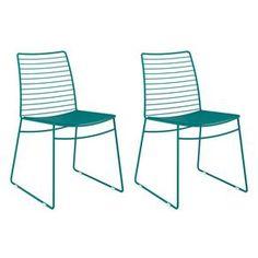 Conjunto 2 Cadeiras de Jantar 1712 Turquesa