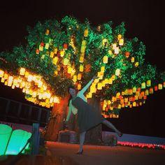 8月にオープンする変なホテルのまえに変わった木があって夜になったらすごく綺麗なイルミネーションになったの() 昼より夜がおすすめのラグーナでした #夜景 #旅行 #日帰り #ラグーナ #アトリエ由花 #イルミネーション #夜 #旅行好き #プチ旅行 #木