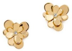 Kate Spade New York Pansy Blossoms Stud Earrings