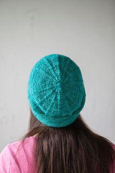 Free+Knitting+Pattern+-+Hats:+Garter+Ridge+Hat