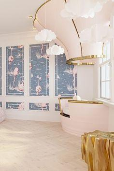 Cette décoration de chambre sur le thème de la princesse a été pensée avec une ambiance plus rétro et victorienne avec quelques accents modernes.  #chambre #chambresdenfants #decor #designdinterieurs #decoration #decordechambre #inspirationdeschambres #chambredefille