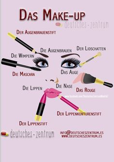Make-up Deutsch Wortschatz Grammatik Alemán German DAF Vocabulario