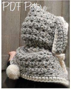 Crochet+PATTERNThe+Bryor+Bunny+Hood+6/9+month+por+Thevelvetacorn,+$5,50
