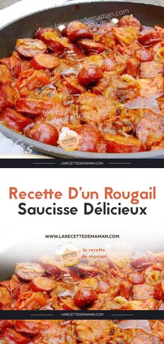 Delicious sausage rougail recipe – mom's recipe – Bavece Naan, Vegetable Quiche, Pot Pasta, Good Food, Yummy Food, Broccoli Cheddar, Recipe For Mom, Paella, Churros