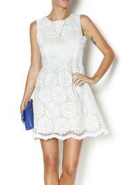 Floral Embroidered Dress, pastel, baby blue, wedding season, summer