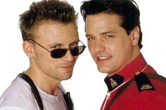 Callum Keith Rennie & Paul Gross circa Due South. Callum Keith Rennie, Due South, Detective Shows, People Of Interest, Hot Actors, Two Girls, Thats The Way, Look Alike, Attractive Men