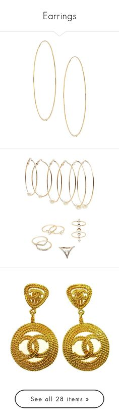 """Earrings"" by mnicole407 ❤ liked on Polyvore featuring jewelry, earrings, gold earrings, hoop earrings, lana earrings, gold jewellery, 14 karat gold hoop earrings, gold, charlotte russe and charlotte russe earrings"