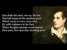 Byron ~ She Walks In Beauty ~ poem with text