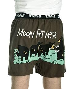 Funny Mens Boxers Sleep in The Dark Bats Soft Comical Boxers for Men by LazyOne X-Large