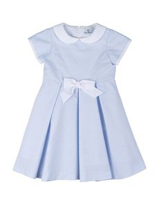 Striped+Ottoman+Dress,+Blue/White,+Size+2T-6X+by+Florence+Eiseman+at+Neiman+Marcus.
