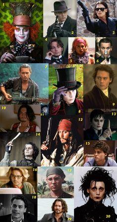 Um post recheadinho de fotos do mais novo cinquentão da área: Johnny Depp. Pois é, o Jack Sparrow/Willy Wonka/Edward Scissorhands chega aos 50 anos cheio de talento e com tudo em cima!