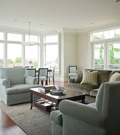 This is sort of like our living room / dining room in our apartment. We can try this layout and see if it works out.