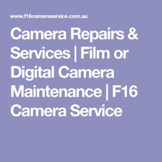 Camera Repairs & Services | Film or Digital Camera Maintenance | F16 Camera Service Digital Camera, Film, Movie, Film Stock, Digital Cameras, Movies, Films