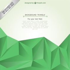 Background template with triangles