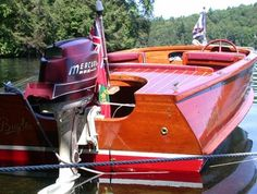 Wooden Boat Plans For Free Refferal: 3602462783 Plywood Boat Plans, Wooden Boat Plans, Old Boats, Small Boats, Free Boat Plans, Runabout Boat, Boat Restoration, Classic Wooden Boats, Boat Engine