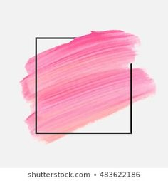 Similar Images, Stock Photos & Vectors of Abstract pink brush background with rectangle geometric frame rose gold color. Logo background for beauty and fashion - 1316150948 Paper Background Design, Brush Background, Banner Background Images, Logo Background, Watercolor Background, Textured Background, Makeup Backgrounds, Abstract Backgrounds, Frame Border Design