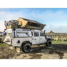 """Packed, ready. #Landrover #Defender 130""""."""