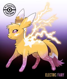 Named: ?(Electric/Fairy) #??? - On rare occasion, an Eevee can be affected by more than one environmental factor, and reacts to grow into a new, rare evolution.Electric/Fairy Eeveelutions occur most...